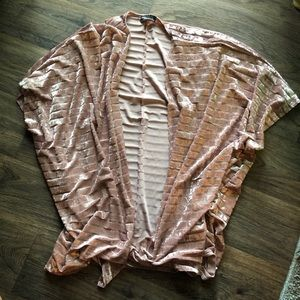 Tops - Pink Velour Cardigan